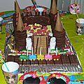Le gâteau château de chevalier