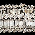 Circa 1950's Cartier Platinum <b>Diamond</b> Bracelets
