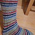 Défi cho7: chaussettes en spirales