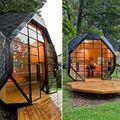 Cocon de bois : polyhedron pod, manuel villa architecture
