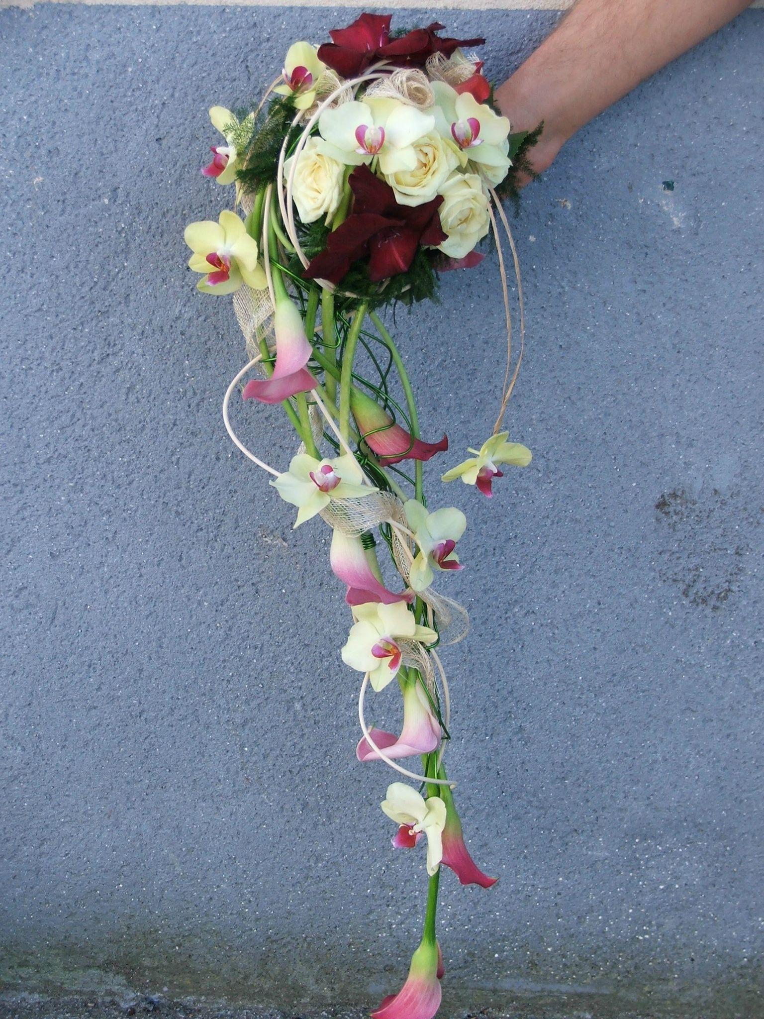 Le bouquet rond avec chute