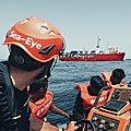 Un navire de l'ONG Sea-Eye ayant débarqué des migrants en Sicile bloqué par les garde-côtes italiens