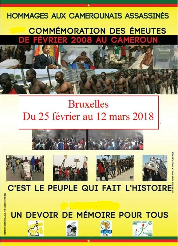 Commémoration de la 10 ème édition de la semaine des martyrs du Cameroun à Bruxelles, du 25 février au 12 mars 2018