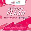 Action Frais de port gratuits