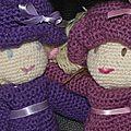 Poupées au crochet robes et chapeaux 7