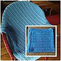 Pine forest baby blanket