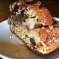 Gâteau léger aux pépites de chocolat noir et <b>crème</b> patissière <b>végétale</b>