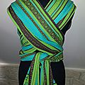 Wrap conversion d'une magnifique zara trigreen en mei tai