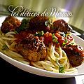 Spaghettis aux boulettes, la belle et le clochard.