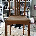 Chaise relookee style atelier, industriel