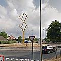 Rond-point à <b>Bruges</b> (Belgique)
