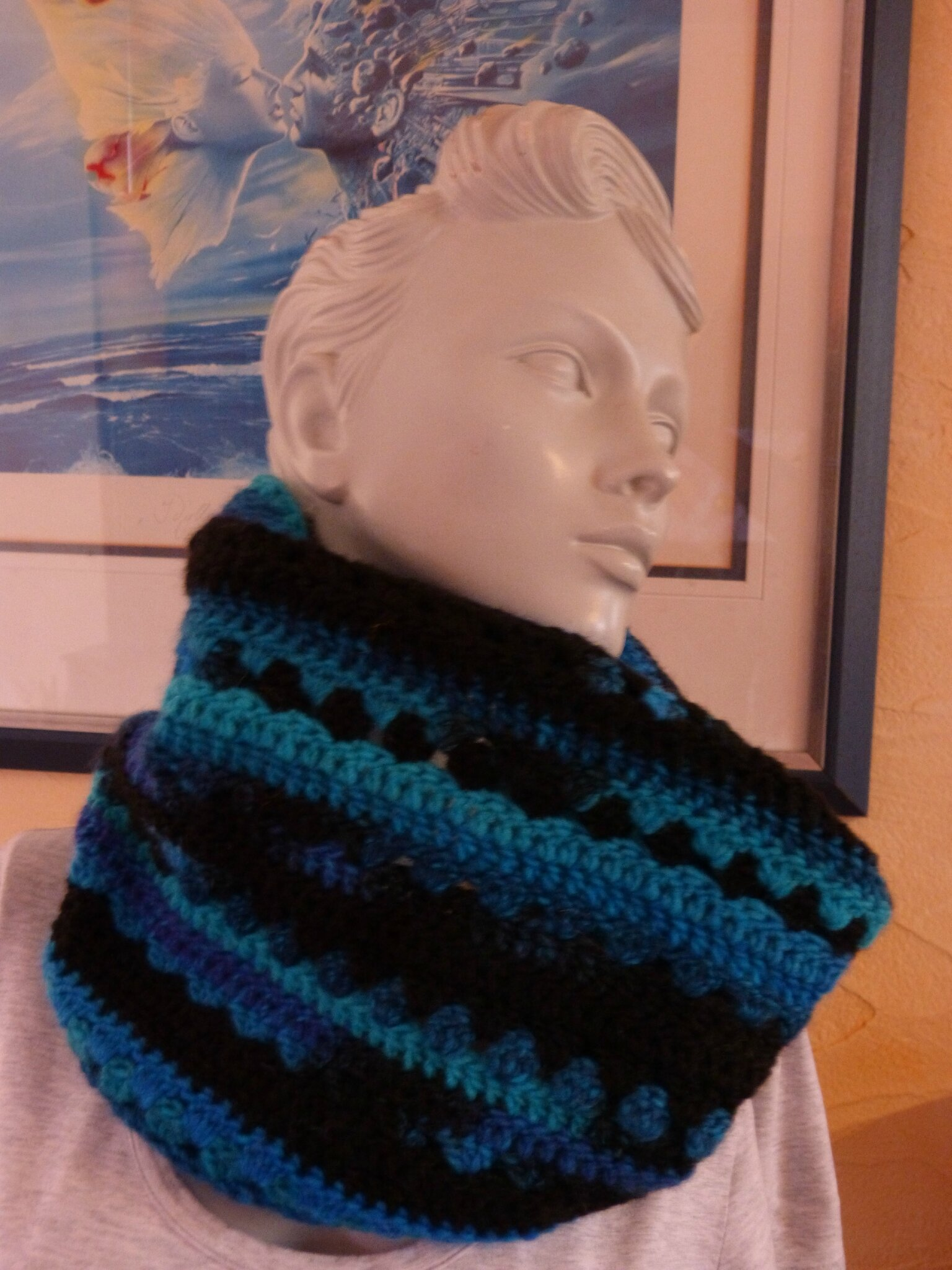 snood crochet bleu (1)