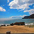 Ile de porto santo , pico castelo , aéroport , océan marine et turquoise