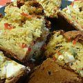 Cake poivrons pignons et feta