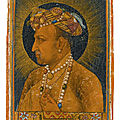 A bust-length portrait of the Emperor Jahangir, signed by Daulat, Mughal, dated 1627