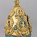 <b>Vajracarya</b> <b>Priest</b>'<b>s</b> <b>Crown</b>, ca. 15th to 16th century, Nepalese