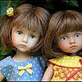 Balade au village pour 2 petites boneka