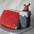 Gâteau père noël par la cheminée