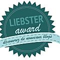 <b>Nomination</b> Liebster awards !