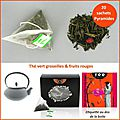 Thé en ligne, sur toobeautyfood, le thé vert groseille fruits rouges