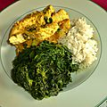 <b>CURRY</b> DE POULET DE <b>MADRAS</b> ACCOMPAGNE D'EPINARDS