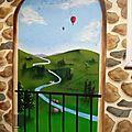 décoration terrasse peinture originale décoration intérieur extérieur peinture trompe l'oeil <b>graffeur</b>