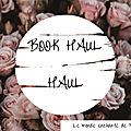 <b>BOOK</b> HAUL | AVRIL 2021