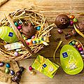 Lapin gourmand et oeufs en chocolat chez Leonidas