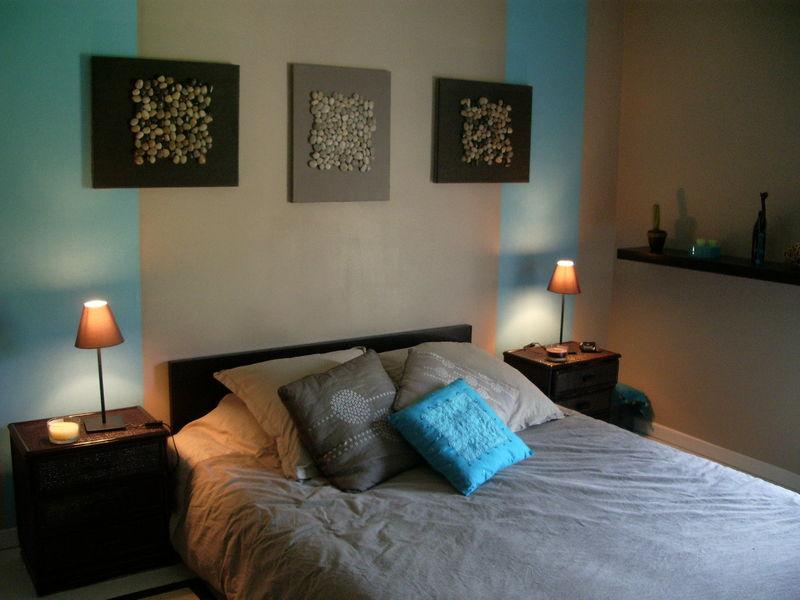 Chambre Style Carabe Turquoise Et Marron  Photo De Mes