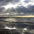 Crépuscule sur la plage du dossen