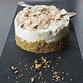 Cheesecake au basilic et amandes
