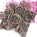 Steampunk Blog <b>hop</b> - altered MDF banner