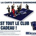 <b>carte</b> cadeau GIRONDINS DE BORDEAUX