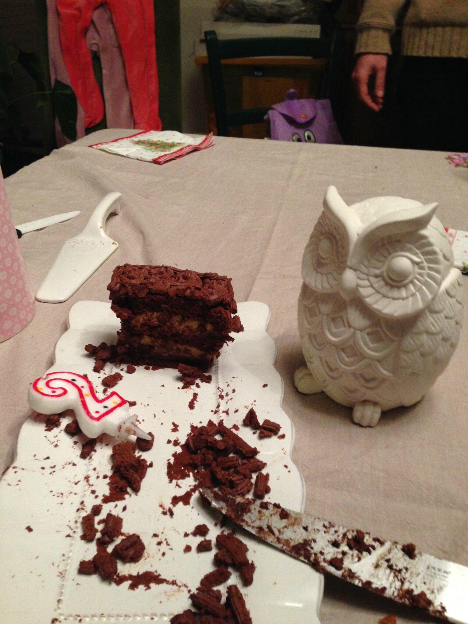 Layer cake chocolat / praliné.