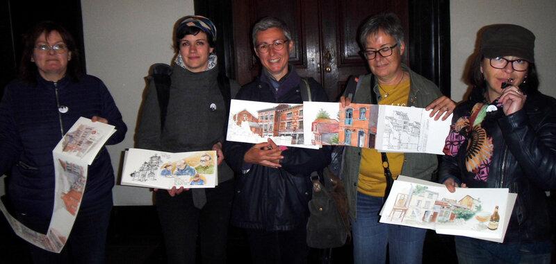 Valérie de Châlon, Sophie de Clermont, moi, Astrid du Gard et Cath du Lot