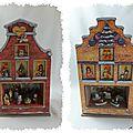 Le village de noël (2) : les maquettes des magasins de noël - la crèche et le pays des esquimaux