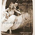 B- Magnet souvenir mariage sépia