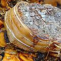 Roti de veau au four sur lit de carottes et champignons