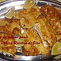 Filets de merlus panés