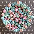 Les minis meringues pastels...