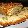 Cake aux olives vertes et jambon cuit