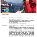 Agenda de la mer : mai 2018 - agenda of the sea : may 2018