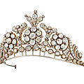19th century <b>diamond</b> <b>tiara</b>-necklace