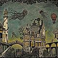 Un autre monde IV - La version bleue - Linogravure