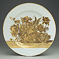 Dish, ca. <b>1735</b>–40. Chinese for the Scottish market