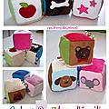 Cubes en tissus pour bébé