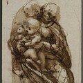 Léonard de Vinci, Vierge enfant et chat
