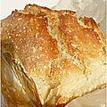 Pain sans pétrissage #2 : no knead bread, even faster