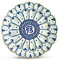 A fine blue and white '<b>lotus</b>' <b>dish</b>, Ming dynasty, Wanli period (1573-1620)
