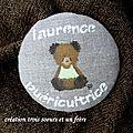 badge ours personnalisable